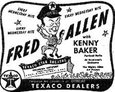 Advertisement for Fred Allen