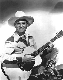 Gene Autry with guitar