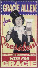 Gracie Allen for President poster