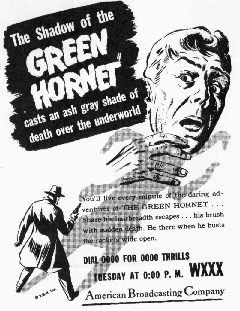 Green Hornet Advertisement
