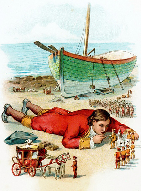 Gulliver's Travel Classic Illustration