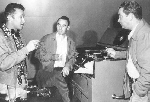Sound engineers Ray Kemper, and Tom Hanley, along with producer and director, Norman Macdonnell