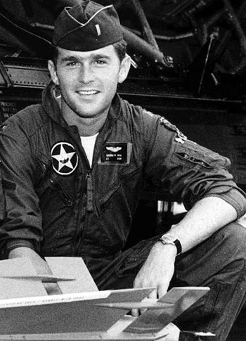 GW Bush in Uniform: