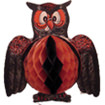 Vintage Halloween Decoration: Folding Owl