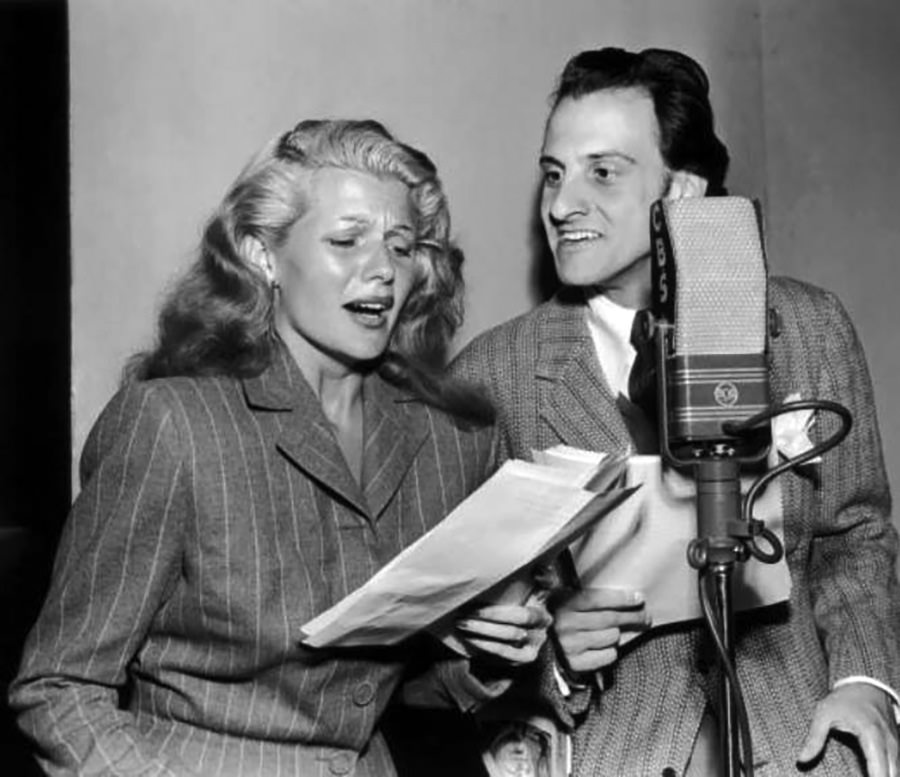 Hans Conried and Rita Hayworth on the Air