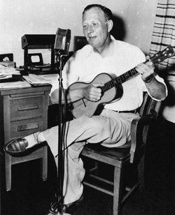 Harry Frankel with Guitar (image from University of Maryland)