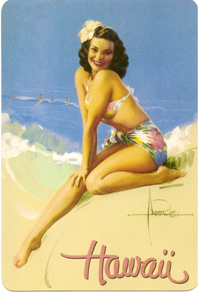 Hawaii Postcard 1950s