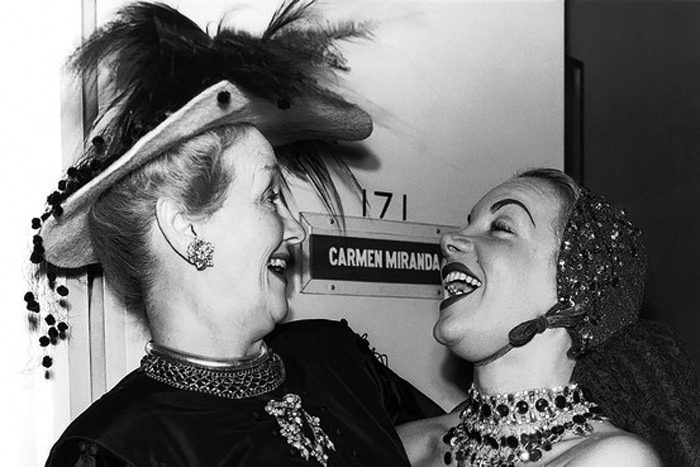 Hedda Hopper & Carmen Miranda Yucking it up!
