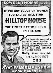 Ad for Hilltop House