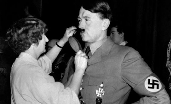 Hitler's Mustache being combed in 1938