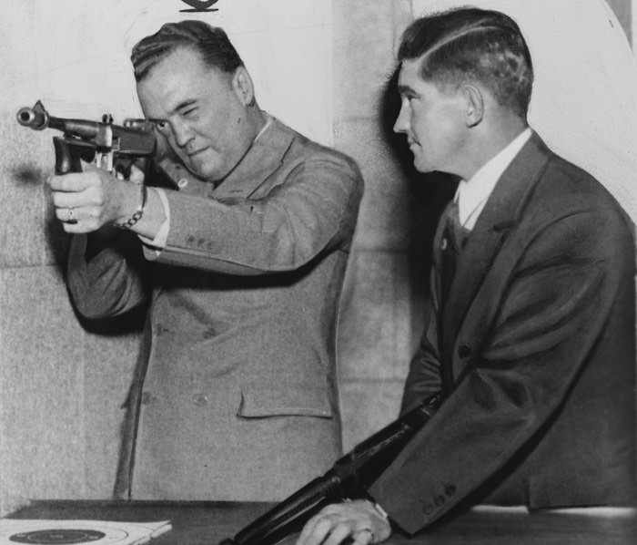 Hoover with Gun, 1935