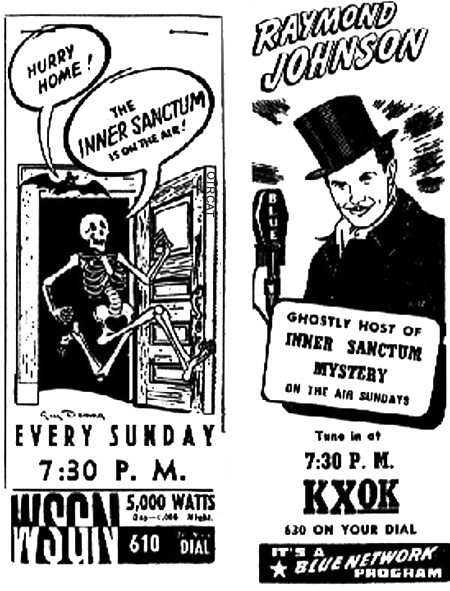 Inner Sanctum Radio Advertisements