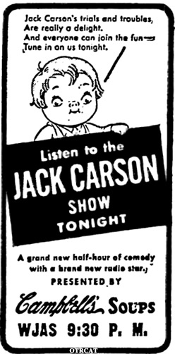 Jack Carson Advertisement
