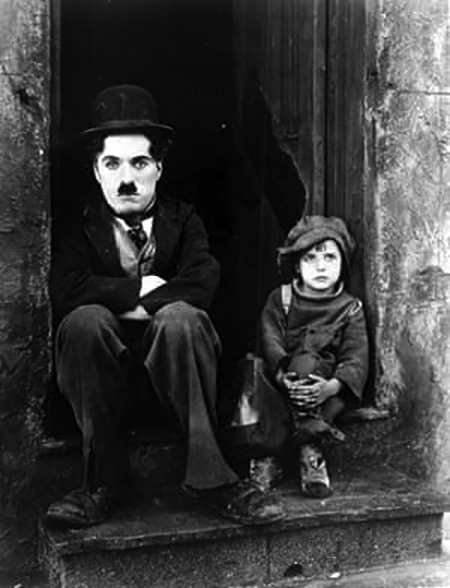 Jackie Coogan Child Star with Charlie Chaplin