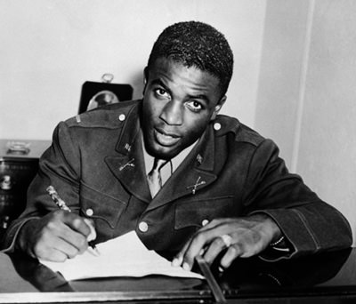 Jackie Robinson in uniform