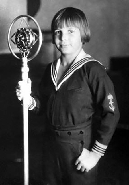 Jackie Coogan, child star with mic