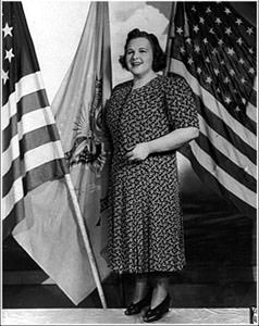 Kate Smith with flag