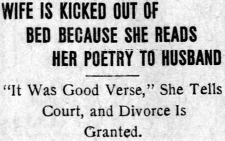 Divorce granted for bad poetry