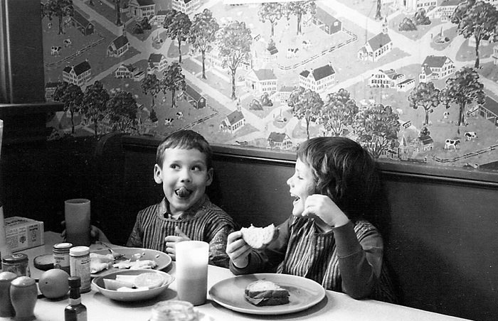 Kids Enjoying Breakfast
