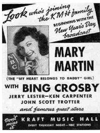 mary martin on kraft music hall poster