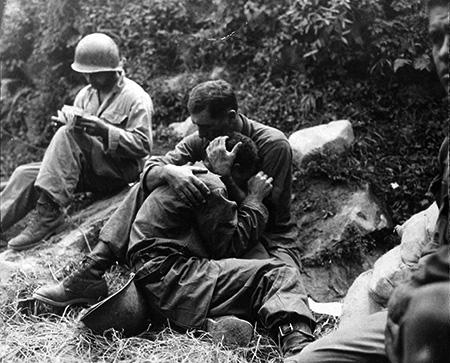 Korean War: 1950 soldier with chaplan