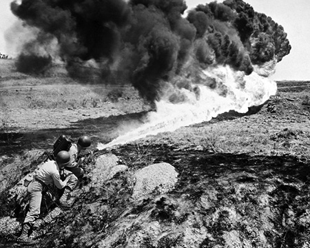 Korean War: Flame Thrower