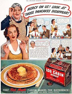 Log Cabin Syrup Advertisement 1938