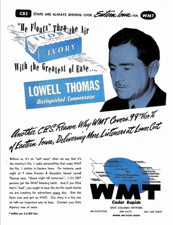 Lowell Thomas Advertisement