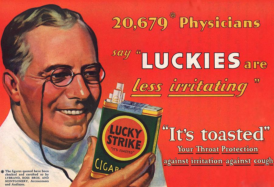 Lucky Strike Advertisement 1930s