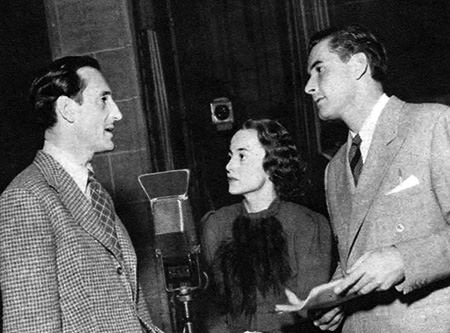 Basil Rathbone and fellow Lux stars