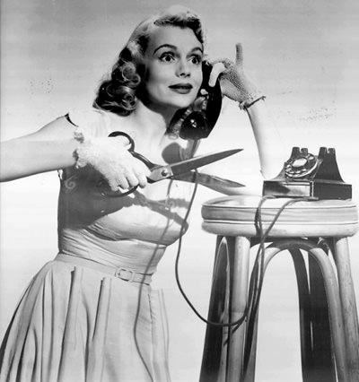 Marie Wilson on the Phone