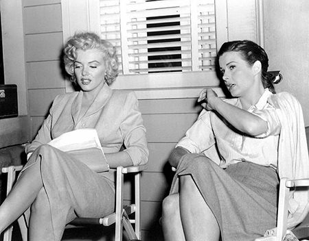 Marilyn Monroe and Jean peters