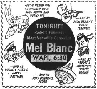 Mel Blanc Ad