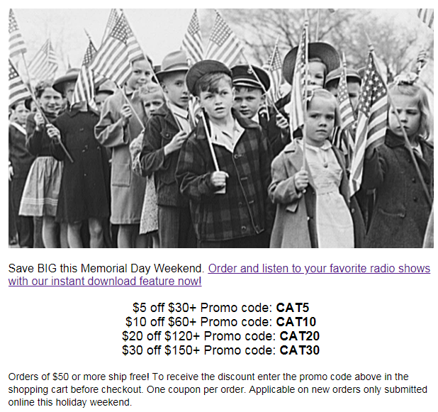 Memorial Day Advertisement