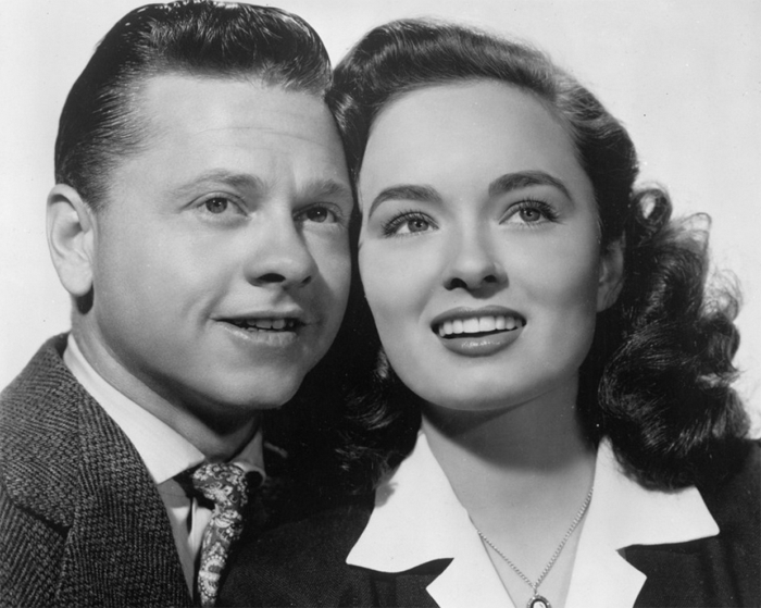 Mickey Rooney and Ann Blyth
