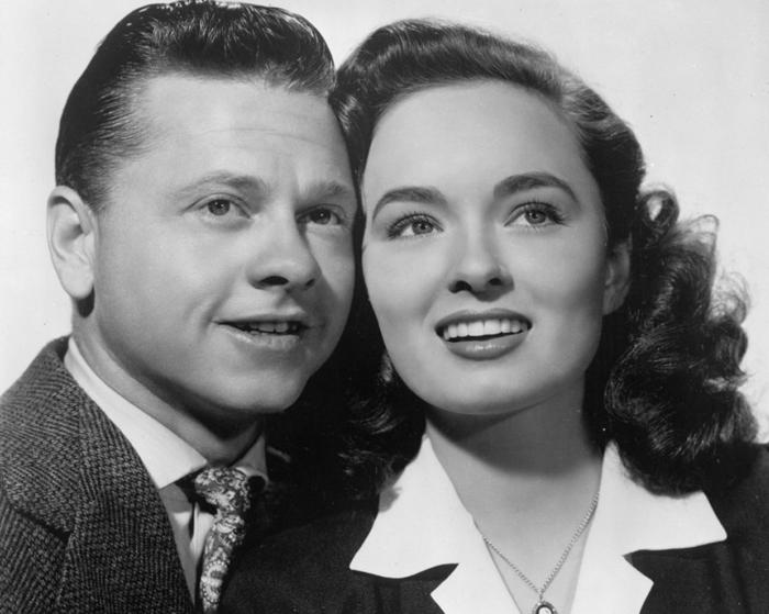 Mickey Rooney and Ann Blyth