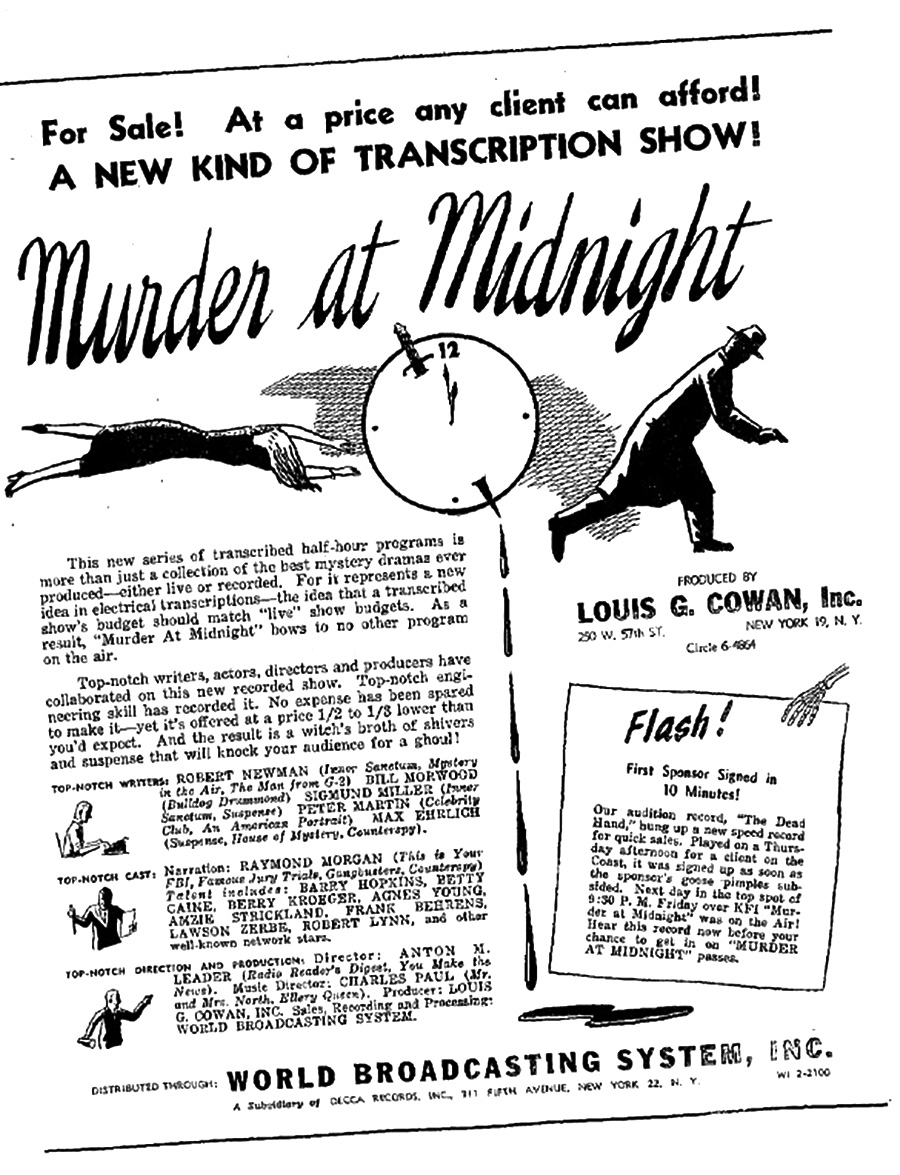 Murder at Midnight advertisement