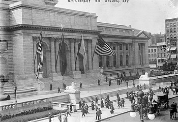 New York Library Opening Day