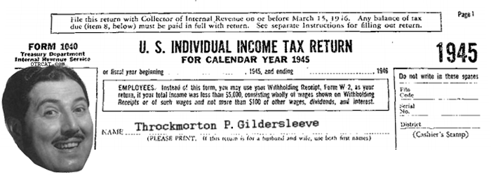 Old Time Radio Tax Shows