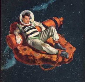 Spaceman on an asteroid