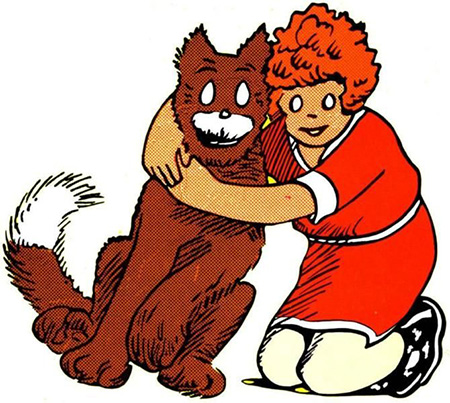 Orphan Annie and Dog