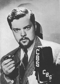 Orson Welles with a pipe
