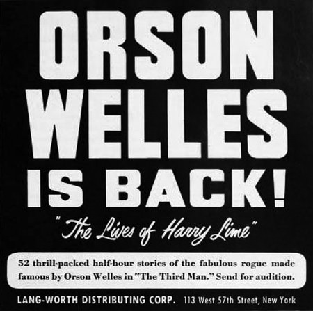 Harry Lime starring Orson Welles