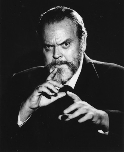 Orson Welles with Beard
