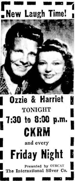 Ozzie Harriet Advertisement