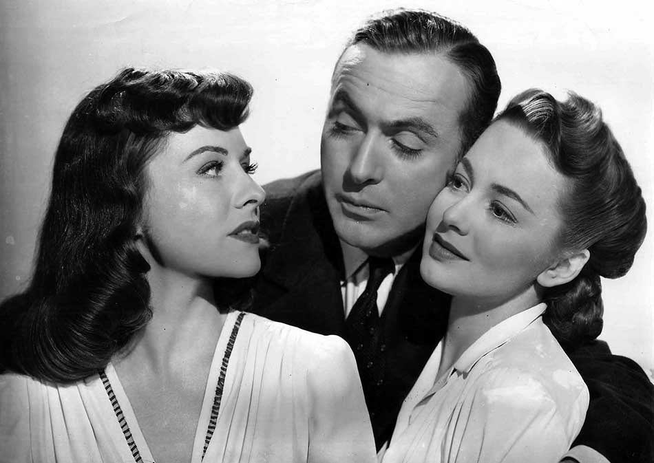Paulette Goddard, Charles Boyer, and Olivia De Haviland