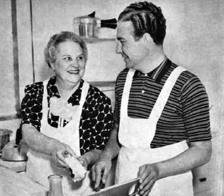 Phil Harris and Mom Cooking