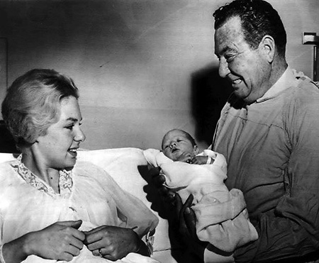 Phil Harris and granddaughter 1961
