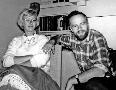 Young Philip K Dick and Anne Rubenstein shortly before they were married