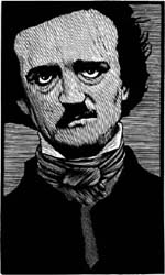 Edgard Allen Poe Woodcarving